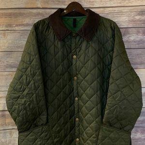 Olive Men's Barbour Coat